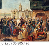 Study for Lima's Main Square by Johann Moritz Rugendas; (1802–1858) Редакционное фото, агентство World History Archive / Фотобанк Лори