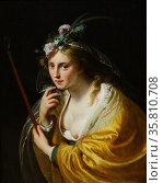 Painting depicting a shepherdess. Редакционное фото, агентство World History Archive / Фотобанк Лори