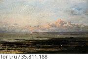 Painting titled 'Beach at Ebb Tide' Редакционное фото, агентство World History Archive / Фотобанк Лори
