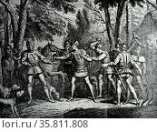 death of Floris V; Count of Holland Reigned 1256–1296. (2014 год). Редакционное фото, агентство World History Archive / Фотобанк Лори