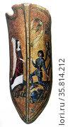 Decorative shield. Редакционное фото, агентство World History Archive / Фотобанк Лори