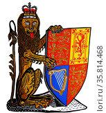 The Heraldic Lion of England. Редакционное фото, агентство World History Archive / Фотобанк Лори