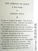 Copy of the poem titled 'The Shroud of Gold' Редакционное фото, агентство World History Archive / Фотобанк Лори