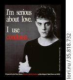 Public health poster about safe sex. Редакционное фото, агентство World History Archive / Фотобанк Лори