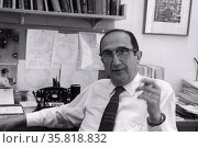 Photograph of Salvador Luria. Редакционное фото, агентство World History Archive / Фотобанк Лори