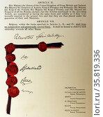 International treaty assuring Belgium's neutral status and guaranteeing it's independence. Редакционное фото, агентство World History Archive / Фотобанк Лори