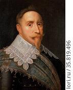 Painting of Gustav II Adolf, AKA Gustavus Adolphus, King of Sweden from 1611 to 1632. Редакционное фото, агентство World History Archive / Фотобанк Лори