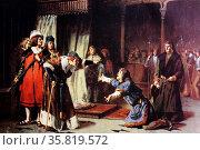 "Oil painting ""Prison de Don Carlos de Viana"". . Редакционное фото, агентство World History Archive / Фотобанк Лори"