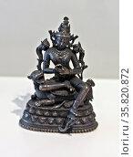 The bodhisattva Manjushri, India, or Bangladesh, Bengal, 11th-12th century, bronze, silver. Редакционное фото, агентство World History Archive / Фотобанк Лори