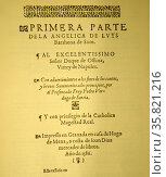 Title Page from Luis Barahona de Soto, Primera Parte de la Angelica. Редакционное фото, агентство World History Archive / Фотобанк Лори