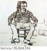 Vincent Van Gogh 'Portrait of Joseph Roulin'. Редакционное фото, агентство World History Archive / Фотобанк Лори