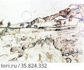 Vincent Van Gogh 'Mower in the rising sun'. Редакционное фото, агентство World History Archive / Фотобанк Лори