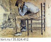 Vincent Van Gogh 'Worn out Vincent'. Редакционное фото, агентство World History Archive / Фотобанк Лори