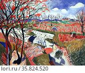 Andre Derain 'Vineyards in spring'. Редакционное фото, агентство World History Archive / Фотобанк Лори