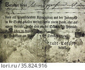 A pass issued to Jews in Frankfurt. Редакционное фото, агентство World History Archive / Фотобанк Лори