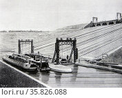 Inclined plane at Foxton on the Leicester branch of the Grand Junction Canal. Редакционное фото, агентство World History Archive / Фотобанк Лори