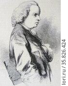 Oliver Goldsmith (1728-1774)  Anglo-Irish poet, novelist and playwright. . Редакционное фото, агентство World History Archive / Фотобанк Лори