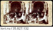 Interior Santa Ana Church, an American field hospital in the Philippines during the Spanish American war 1898. Редакционное фото, агентство World History Archive / Фотобанк Лори
