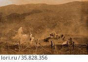 The Capture of Braun Kopf, in Alsace, France. Редакционное фото, агентство World History Archive / Фотобанк Лори