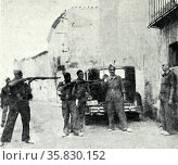 Mock murder of a detainee by Republican soldiers during the Spanish Civil War (2013 год). Редакционное фото, агентство World History Archive / Фотобанк Лори