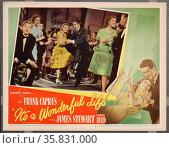 It's a Wonderful Life' a 1946 American Christmas fantasy comedy-drama film starring James Stewart. Редакционное фото, агентство World History Archive / Фотобанк Лори