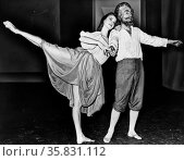 Suzanne Farrell and George Balanchine dancing in a segment of 'Don Quixote' at New York State Theater 1965. Редакционное фото, агентство World History Archive / Фотобанк Лори