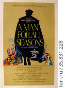 A Man for all Seasons' a 1966 British film based on Robert Bolt's play of the same name about Sir Thomas More. The film starred Paul Scofield, Wendy Hiller, Leo McKern, Robert Shaw and Orson Wells. Редакционное фото, агентство World History Archive / Фотобанк Лори