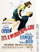 It's a Wonderful Life' a 1946 American Christmas fantasy comedy-drama film starring starring James Stewart and Donna Reed. Редакционное фото, агентство World History Archive / Фотобанк Лори
