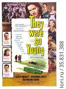 They Were So Young' starring Raymond Burr, Scott Brady, Johanna Matz, Gert Frobe and Kurt Meisel. Редакционное фото, агентство World History Archive / Фотобанк Лори