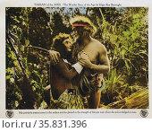 Tarzan of the Apes' a 1918 American, action/adventure silent film. Редакционное фото, агентство World History Archive / Фотобанк Лори
