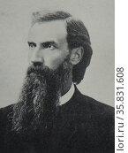 Hoyme, Gjermund (October 8, 1847–June 9, 1902. Norwegian pastor settled in North America. Редакционное фото, агентство World History Archive / Фотобанк Лори