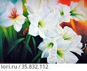 Omi Reyes, Offertory Flower, 1994. Oil on canvas. Редакционное фото, агентство World History Archive / Фотобанк Лори