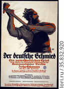 Der deutsche Schmied, ein vaterländisches Spiel. Редакционное фото, агентство World History Archive / Фотобанк Лори