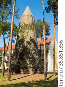 Hochbunker der Bauart Winkel - Winkelturm - in der Waldstadt Wünsdorf... Стоковое фото, фотограф Zoonar.com/Lothar Steiner / age Fotostock / Фотобанк Лори