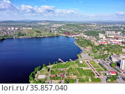 Summer panorama of the city of Nizhny Tagil. Russian Federation. Стоковое фото, фотограф Евгений Ткачёв / Фотобанк Лори