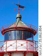 Leuchtfeuer Ranzow am Kap Arkona auf Rügen, beacon. Стоковое фото, фотограф Zoonar.com/W. Woyke / age Fotostock / Фотобанк Лори