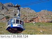 Tafelberg mit Seilbahn, Südafrika, Cableway up to Table Mountain, ... Стоковое фото, фотограф Zoonar.com/wiw / age Fotostock / Фотобанк Лори