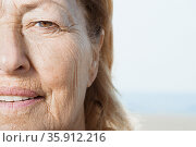 Senior woman's face. Стоковое фото, фотограф Shannon Fagan / Ingram Publishing / Фотобанк Лори