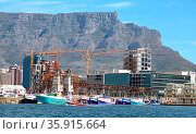 Tafelberg vom Wasser aus gesehen, Kapstadt, Table Mountain, view ... Стоковое фото, фотограф Zoonar.com/Wibke Woyke / age Fotostock / Фотобанк Лори