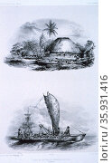 Illustrations of native life in the Pacific Region. Редакционное фото, агентство World History Archive / Фотобанк Лори