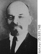 M Nicolai Larin, the soul of Bolshevism and first Soviet Premier. Редакционное фото, агентство World History Archive / Фотобанк Лори