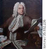 George Friedrich Handel 1685-1759 German-English composer. Редакционное фото, агентство World History Archive / Фотобанк Лори