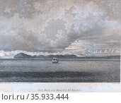 The Discovery offshore from Icy Bay and Mount St. Elias. Редакционное фото, агентство World History Archive / Фотобанк Лори