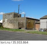 Disused building at the RAF Upper Heyford Base. Редакционное фото, агентство World History Archive / Фотобанк Лори