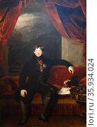 Portrait of King George IV by Thomas Lawrence. Редакционное фото, агентство World History Archive / Фотобанк Лори