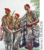 Illustration by Carlos Saenz De Tejada. Редакционное фото, агентство World History Archive / Фотобанк Лори