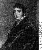 Portrait of Prime Minister William Lamb, 2nd Viscount Melbourne. Редакционное фото, агентство World History Archive / Фотобанк Лори