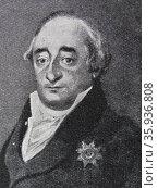 Portrait of Heinrich Friedrich Karl vom und zum Stein. Редакционное фото, агентство World History Archive / Фотобанк Лори