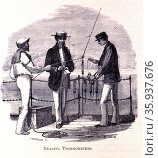 Naturalist reading deep sea thermometers. Редакционное фото, агентство World History Archive / Фотобанк Лори