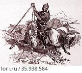 Illustration of Wazir Akbar Khan. Редакционное фото, агентство World History Archive / Фотобанк Лори